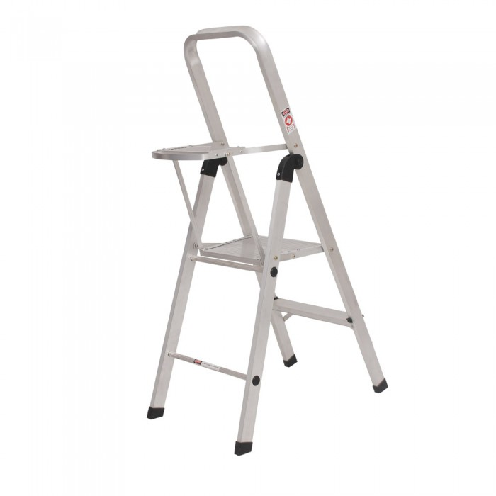 2 STEP LADDER WITH TOOL TRAY