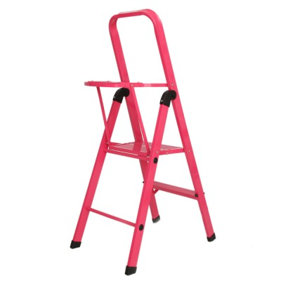 2 STEP LADDER WITH TOOL TRAY - COLOR